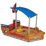 KidKraft- Arenero de madera para niños, diseño de galeón pirata, para jardín y...