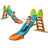 FEBER - Super Mega Slide, Tobogán de colores luminosos rampa curva y conexión de...