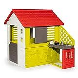 Smoby-Casa infantil Nature II con cocina y accesorios (810713), color verde