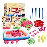 Space Sand 1.8 kg con 50 Piezas de Formas, números, Letras, Piezas de Castillos,...