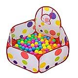 Amison - Piscina de bolas infantil con aro de baloncesto, diseño hexagonal con...