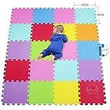 qqpp Alfombra Puzzle para Niños Bebe Infantil - Suelo de Goma EVA Suave. 20 Piezas...