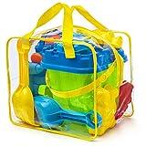 Completo conjunto de juguetes para la playa en bolsa reutilizable con cremallera,...