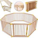 KIDUKU® Parque de bebé XXL 8 Piezas Corralito plegable puerta incluida, forma...
