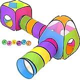 NUBUNI 4 en 1 Tienda Campaña Infantil : 2 Casitas Tela + 2 Tunel de Juego para...