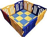 Parque de Bebe XL 8 Piezas Star Ibaby Play Twin/Incluye alfombra puzzle 16...