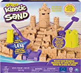 Kinetic Sand Kingdom Playset with 3lbs of Beach Sand, for Ages 3 and Up Mega Castle...